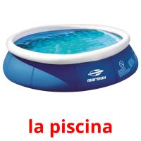 la piscina picture flashcards