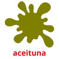 aceituna picture flashcards
