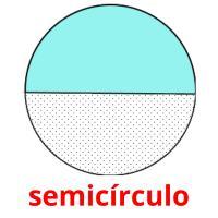 semicírculo picture flashcards