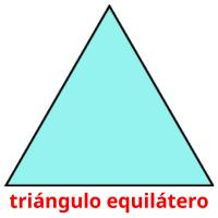 triángulo equilátero picture flashcards