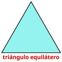 triángulo equilátero picture flashcards