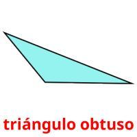 triángulo obtuso picture flashcards