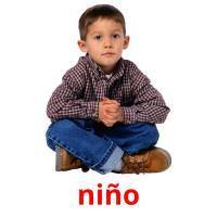 niño picture flashcards