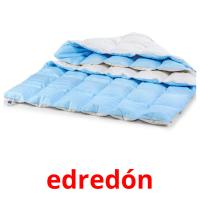 edredón picture flashcards