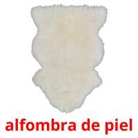 alfombra de piel picture flashcards