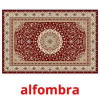 alfombra picture flashcards