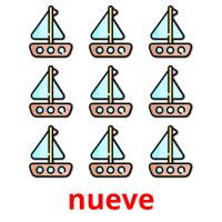 nueve picture flashcards