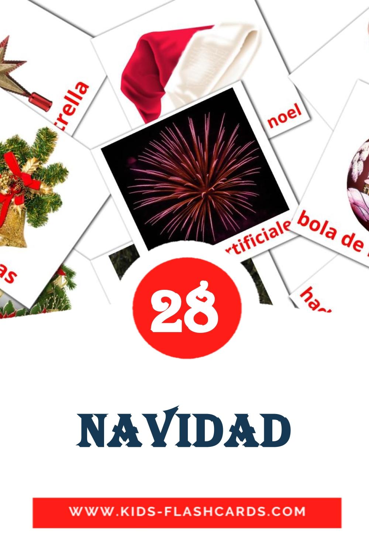 28 Navidad Picture Cards for Kindergarden in spanish