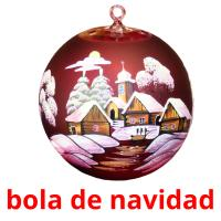 bola de navidad picture flashcards