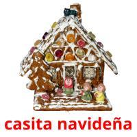 casita navideña picture flashcards