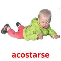acostarse picture flashcards