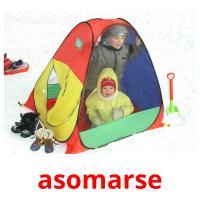 asomarse picture flashcards