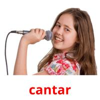 cantar picture flashcards