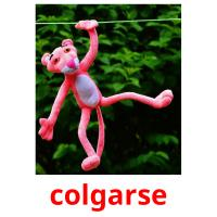 colgarse picture flashcards