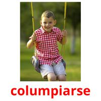 columpiarse picture flashcards