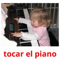 tocar el piano card for translate