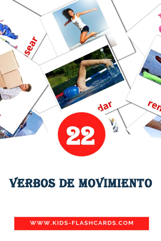 22 Verbos de movimiento Picture Cards for Kindergarden in spanish