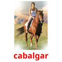 cabalgar picture flashcards