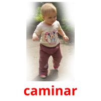 caminar picture flashcards