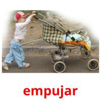empujar picture flashcards