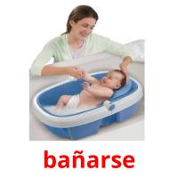 bañarse picture flashcards