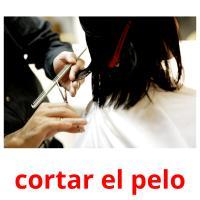 cortar el pelo picture flashcards