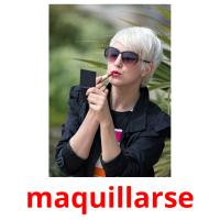 maquillarse picture flashcards