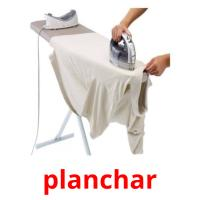 planchar picture flashcards