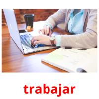 trabajar picture flashcards