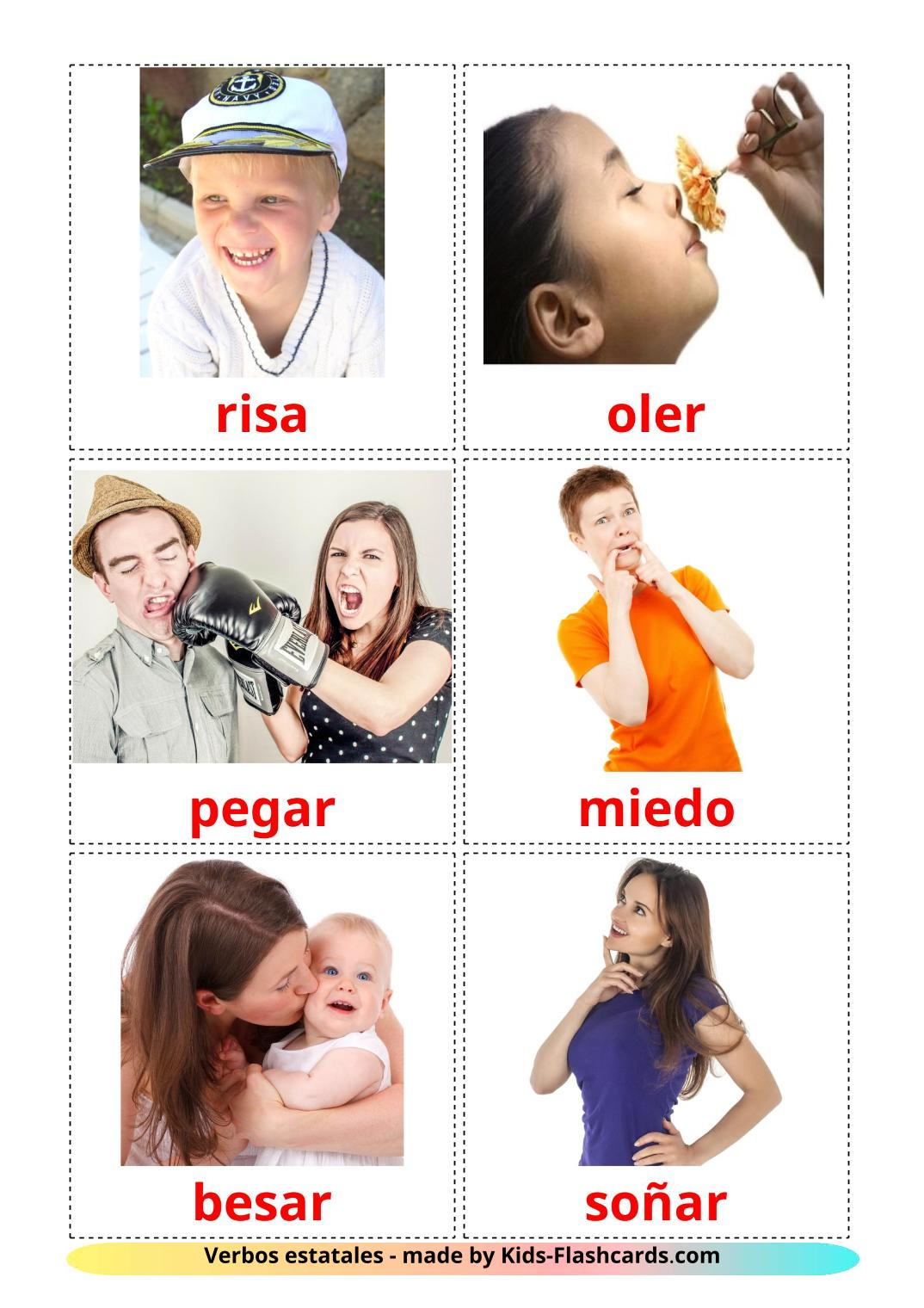 State verbs - 23 Free Printable spanish Flashcards