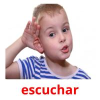 escuchar picture flashcards