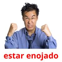estar enojado picture flashcards