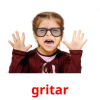 gritar picture flashcards