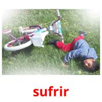 sufrir picture flashcards