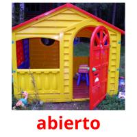 abierto picture flashcards