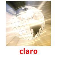 claro picture flashcards