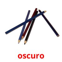 oscuro picture flashcards