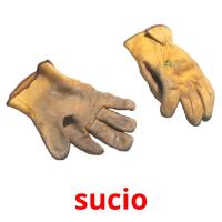 sucio picture flashcards