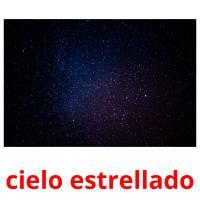 cielo estrellado picture flashcards