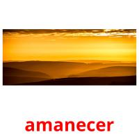 amanecer picture flashcards
