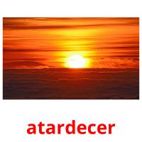 atardecer picture flashcards
