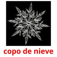 copo de nieve picture flashcards