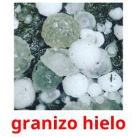 granizo hielo picture flashcards