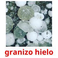granizo hielo picture flashcards