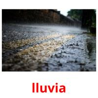 lluvia picture flashcards