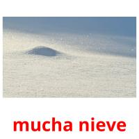 mucha nieve card for translate