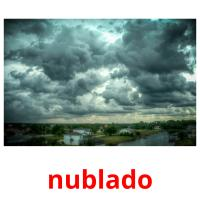 nublado picture flashcards