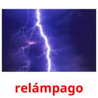 relámpago picture flashcards