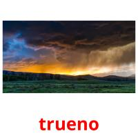 trueno picture flashcards