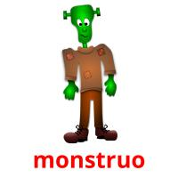 monstruo picture flashcards